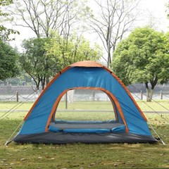 이지캠핑 자동 원터치 텐트(3~4인용/블루)