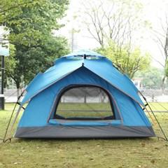 캠핑존 그늘막 원터치 텐트(3~4인용/블루)