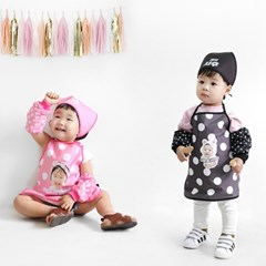 [키미티즈] 포토 어린이집 방수 앞치마