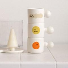 FAFA 이모티콘 머그컵 내열강화 귀여운 유리컵