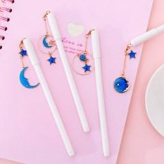 감성 달 별 우주 디자인 펜