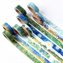 빈티지 풍경 자연 그림 마스킹테이프 마테 다꾸