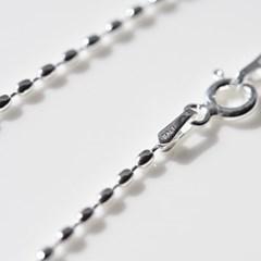 뷔즈 Silver 925 oval bead necklaceVN071
