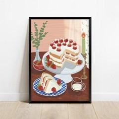 딸기케이크 디저트카페 인테리어 아트 포스터 그림 액자
