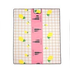 해피니스 방수 돗자리(200x150cm) (핑크) 소풍 휴대용 야외돗자리