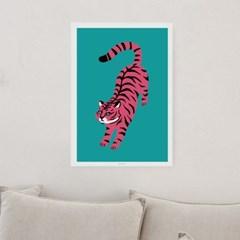 일러스트 포스터 / 인테리어 액자_pink tiger 01