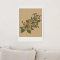 일러스트 포스터 / 인테리어 액자_sunflower 02