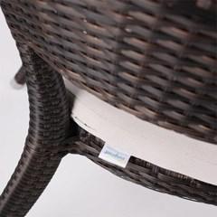 토리노 암 체어 고급 호텔 야외 라탄 의자