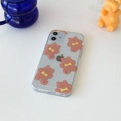 pattern teddy gummy [클리어 폰케이스]