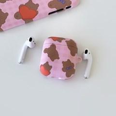 pattern teddy gummy [hard 에어팟케이스]