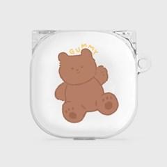 toy teddy gummy [clear 버즈라이브 케이스]