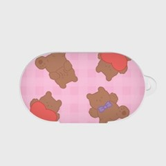 pattern teddy gummy [버즈, 버즈플러스 케이스]