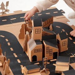 [출시기념할인] 나만의 마을을 만드는 종이블럭 블럭빌리지