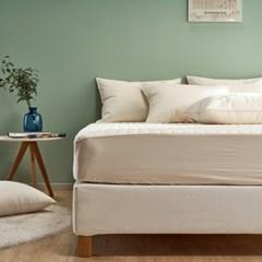 라운드 오가닉 유기농 목화 침대 매트리스 커버 Q