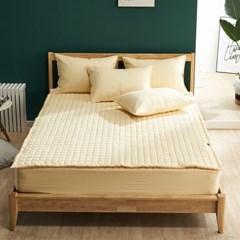 크라운 고밀도 면 60수 먼지없는 밴딩 침대패드 Q