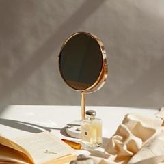 마블 대리석 360도 회전 골드 스탠드 양면 거울 탁상 화_(1440605)