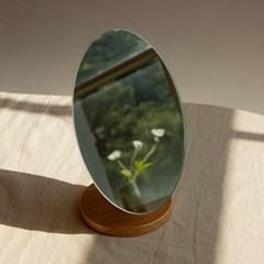 노프레임 우드 받침 탁상용 거울 테이블 화장 스탠드 인_(1440677)