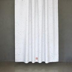 샤워커튼 스플래터 옐로 그린