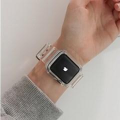 시계 남녀공용 투명 실리콘 심플 4계절 시계줄 스트랩