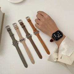 시계 애플워치 가죽 슬림 고급스러운 심플 시계줄 스트랩
