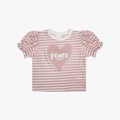 하트 장식 퍼프 소매 티셔츠 ID2CH505G_(1890344)