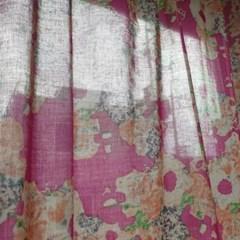 [만옥]깜풍마을 가리개 커텐 m 유니크 패턴 식탁보 빈티지 커튼