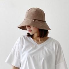 린넨 챙 고리 사파리 벙거지 오버사이즈 버킷햇 모자
