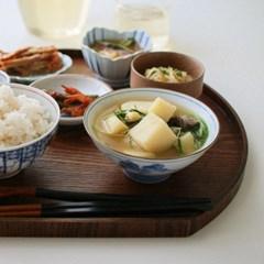 빈티지 포도넝쿨 굽 볼 밥공기 혼밥