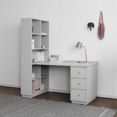 [코코소프트] A형 트윈책상/테이블 : 블랑그레이 1520_(1761004)