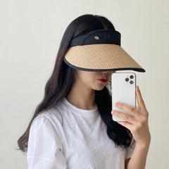 여성 UV차단모자 라탄 자외선 차단 썬캡 모자