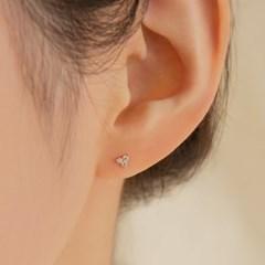 14K Gold Mini CZ Blossom Earrings (14k골드) a03