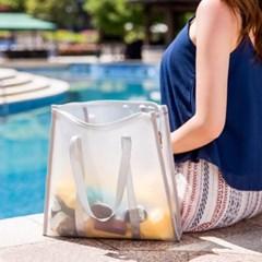아쿠아 방수 비치백(그레이) 바캉스 물놀이 가방