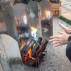 캠핑 버너 바람막이 화로대전용 윈드가드 특대형 60cm