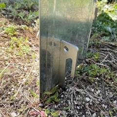 스틸 타프팩 25cm 캠핑팩 단조팩 파우치증정