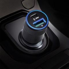 알로코리아 USB PD 45W 듀얼 PPS 초고속 차량용 충전기 MC45PD