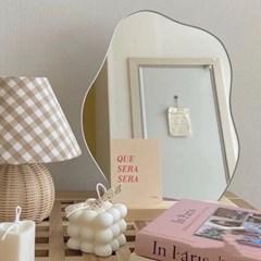 화장대 탁상 면도  아크릴 안전 거울 욕실 벽 면도경