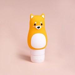 무핀 시바견 실리콘 리필용기/70ml 여행용 화장품용기