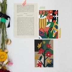 파편과 조각 일러스트 엽서 / 인테리어 엽서 (RM 345001_4종 세트)