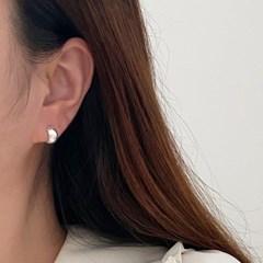 실버925 미니 볼드 원터치 링 귀걸이