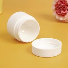 백색 리필 크림용기 5p세트 화이트 휴대용 화장품공병
