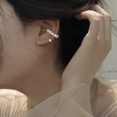 천연 담수진주 여자 자석 귀찌형 이어커프