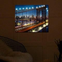 DIY LED 페인팅 - 야경의 맨해튼다리 LP04 (50x40)_(1622564)