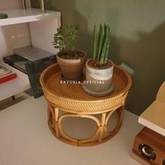 까유니아 라탄 트레이 테이블