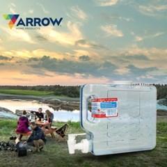애로우 캠핑 물통 슬림형 2.8L 아이스팩 생수 음료 디스펜서