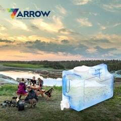 애로우 캠핑 물통 사각형 11.37L 특대형 생수 음료 디스펜서