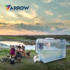 애로우 캠핑 물통 사각형 9.4L 대형 생수 음료 디스펜서