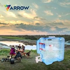 애로우 캠핑 물통 사각형 7.57L 대형 생수 음료 디스펜서