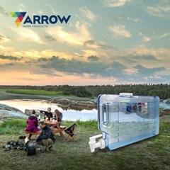 애로우 캠핑 물통 슬림형 4.73L 아이스팩 음료 디스펜서