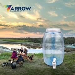 애로우 캠핑 물통 드럼 원형 4.7L 생수 믹스 음료 디스펜서