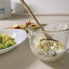 푸푸 시리얼컵 샐러드 볼 유리 커피 머그컵
